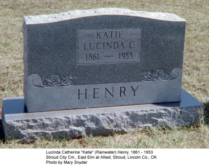 Rainwater Genealogy: Cemetery and Tombstone Transcriptions